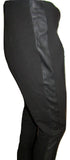 J Crew Black Leggings with Leather Inset Size Medium (10)