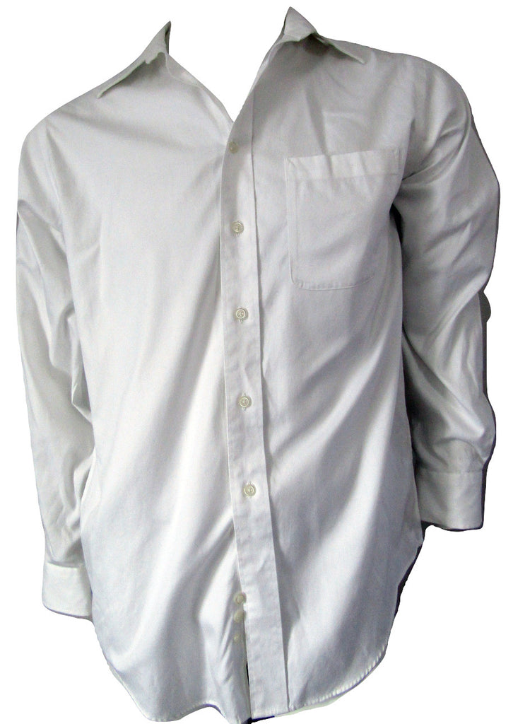 Joseph & Feiss White Cotton Dress Shirt Size 15, 32/33