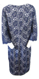 JS Collections Blue Lace Dress Size Extra Large (14) fits like a (12)
