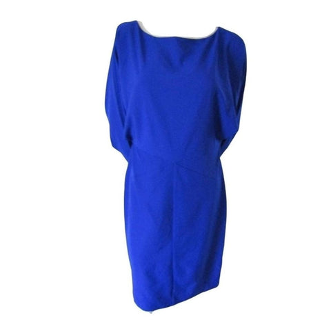 Katherine Kelly Blue Balloon Sleeve Dress Size Small (4)