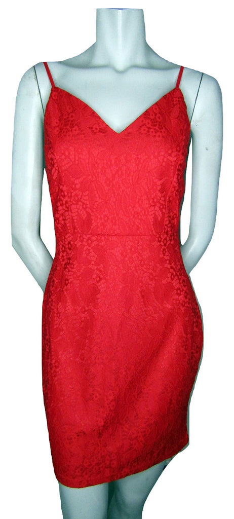 Measeor Red Lace Slipdress Size Medium (Fits like an Extra Small)
