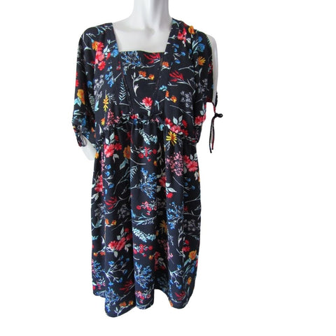 Molly Bracken Floral Open Back Split Sleeve Dress Size M/L (12)