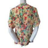 Nanette Lepore Silk Floral Short Sleeved Blouse Size Medium (10)