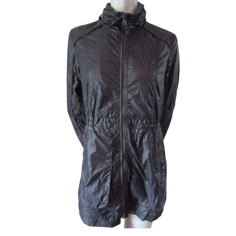 Nuage Black Raincoat with Hood Size Medium (8)