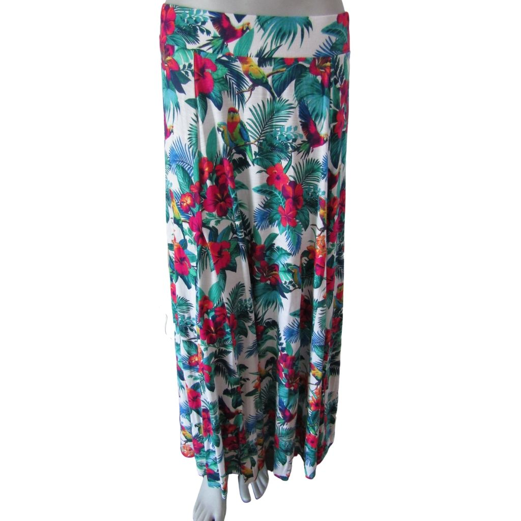 Tommy Bahama Tropical Print Maxi Skirt Size Small (6)