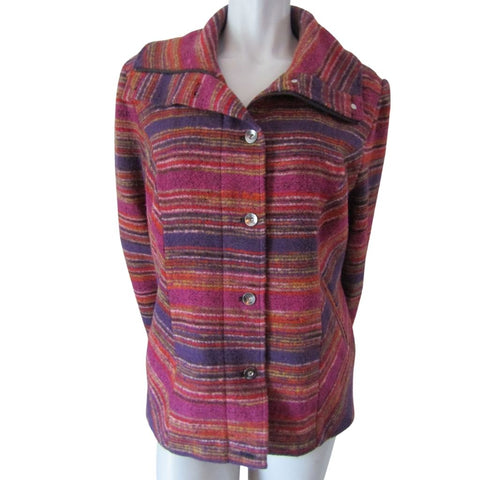 Tribal Multi Coloured Striped Jacket Size Extra Large (14)