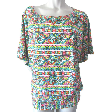 Trina Turk Multicoloured Blousy Top Size Large (12)