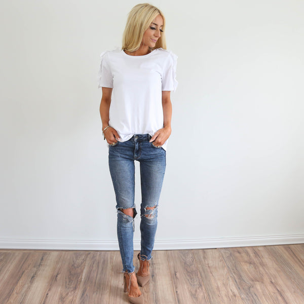 S & Co. Adelise Top in White