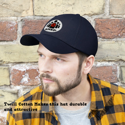 SNEP Twill Cotton Cap Twill Cotton makes the hat durable and attractive