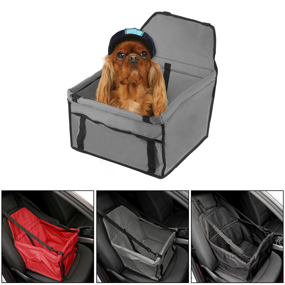 Folding Pet Car Seat with Safety Leash