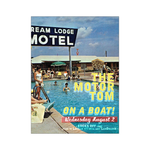 The Motor Tom On a Boat Poster