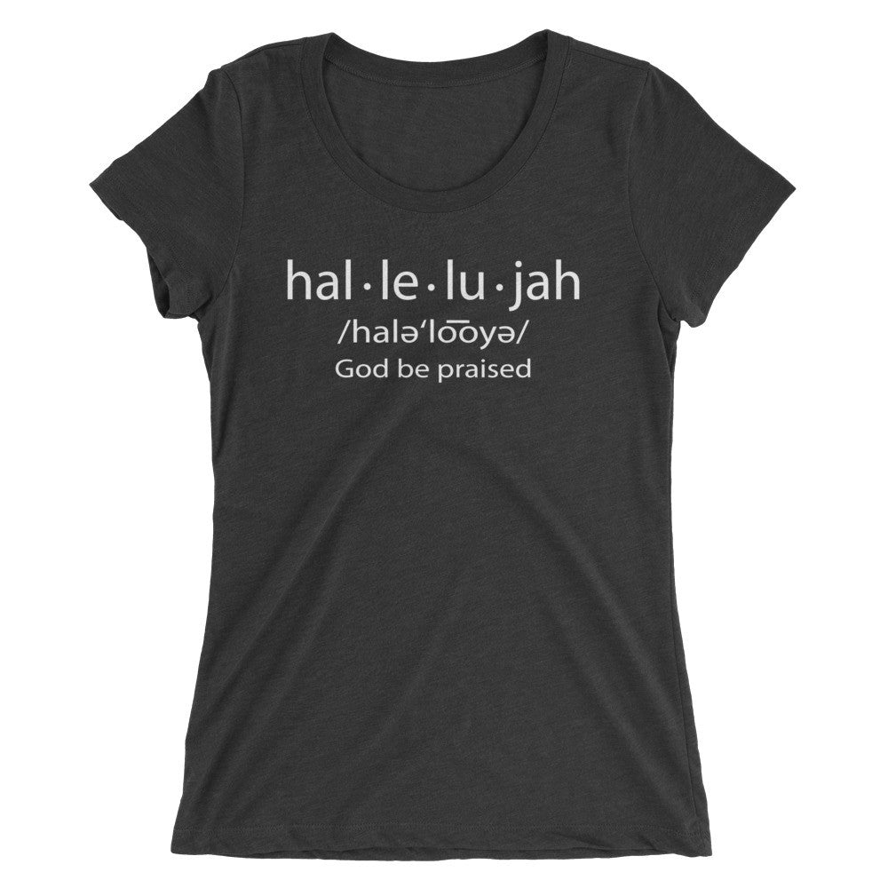 Hallelujah Ladies' short sleeve t-shirt