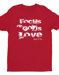 Focus on God's Men's soft t-shirt