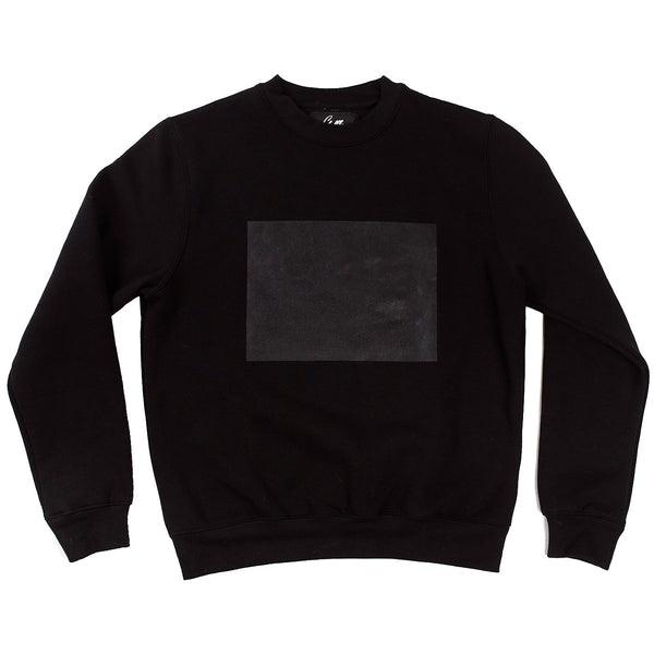 Black sweatshirt with a drawable surface