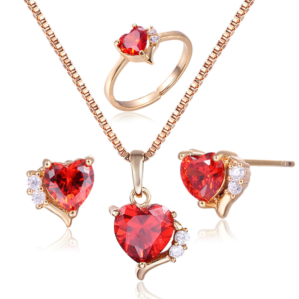 molecules of tiny made with gold dopamine necklace heart image product red ruby