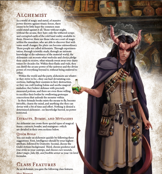 Classes - The 5E Alchemist