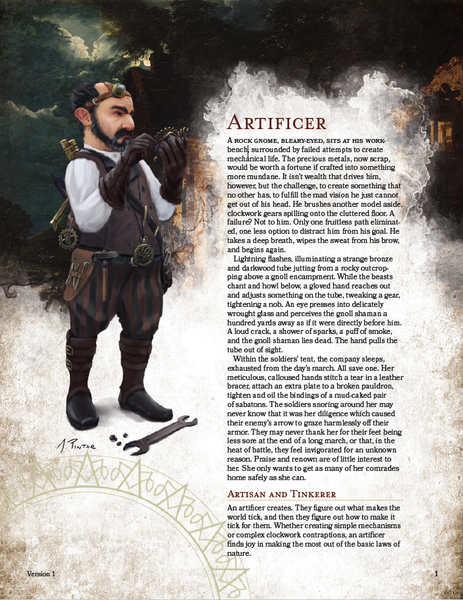 Classes - The 5E Artificer
