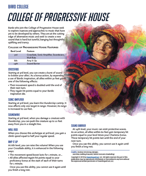 Overwatch in 5E - College of Progressive House
