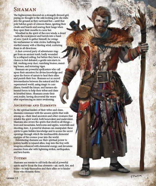 Classes - The 5E Shaman