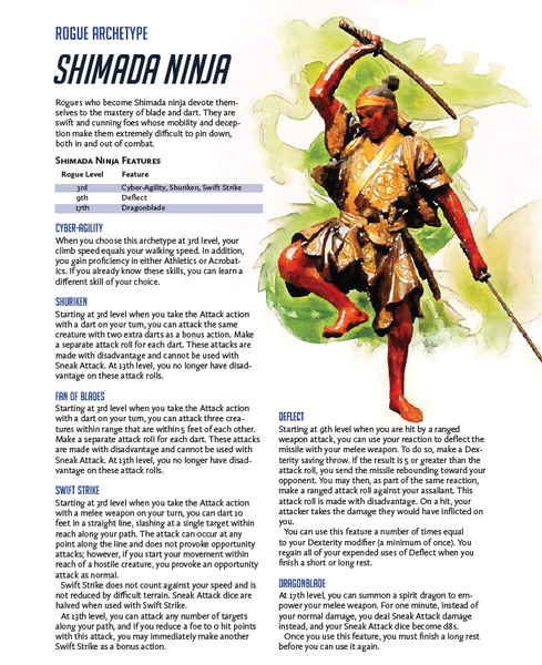 Overwatch in 5E - Shimada Rogue