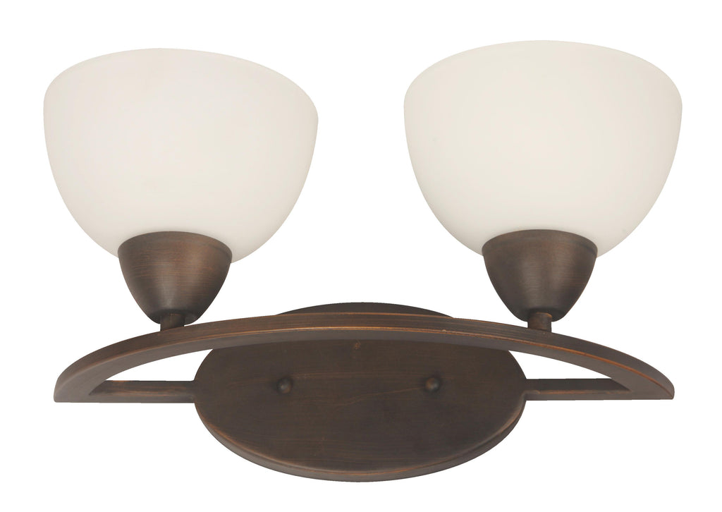 02951-9 2LT WALL LAMP COFFEE BROWN FINISH