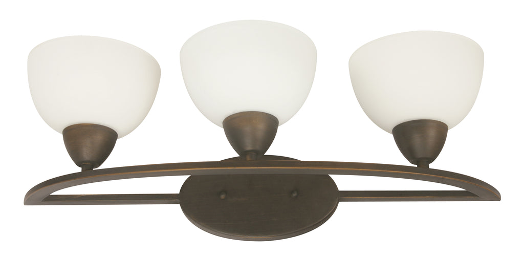 02952-9 3LT WALL LAMP COFFEE BROWN FINISH