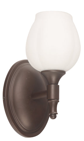 03039-9 1LT VANITY LAMP OIL BRUSHED BRONZE FINISH
