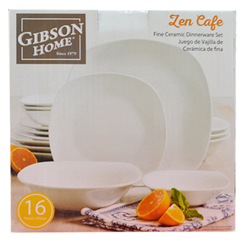GIBSON ZEN CAFÉ 16PC SOFT SQ DOUBLE BOWL D/WARE SET
