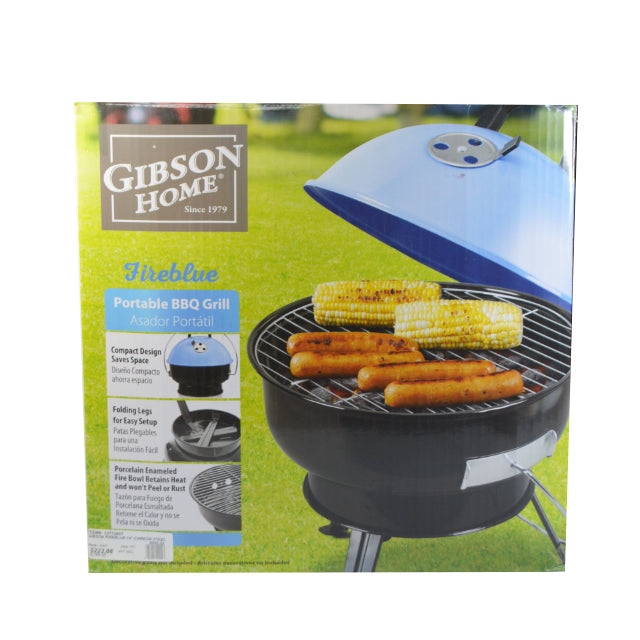 "12772807 GIBSON FIREBLUE 14"" CARBON STEEL BBQ GRILL"