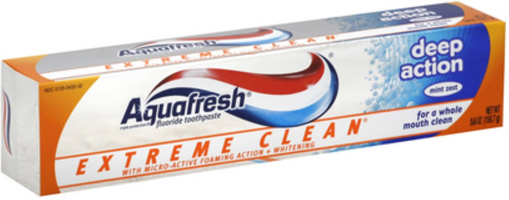 AQUAFRESH EXTREME CLEAN DEEP ACTION SUGAR ACID PROTECTION, 158.7G