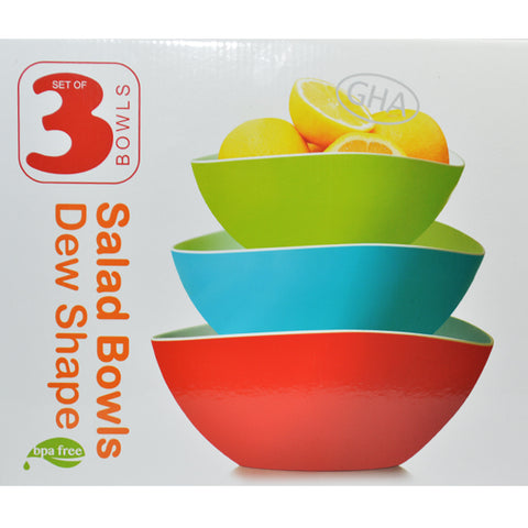 GHA 3 SET OF SALAD BOWLS