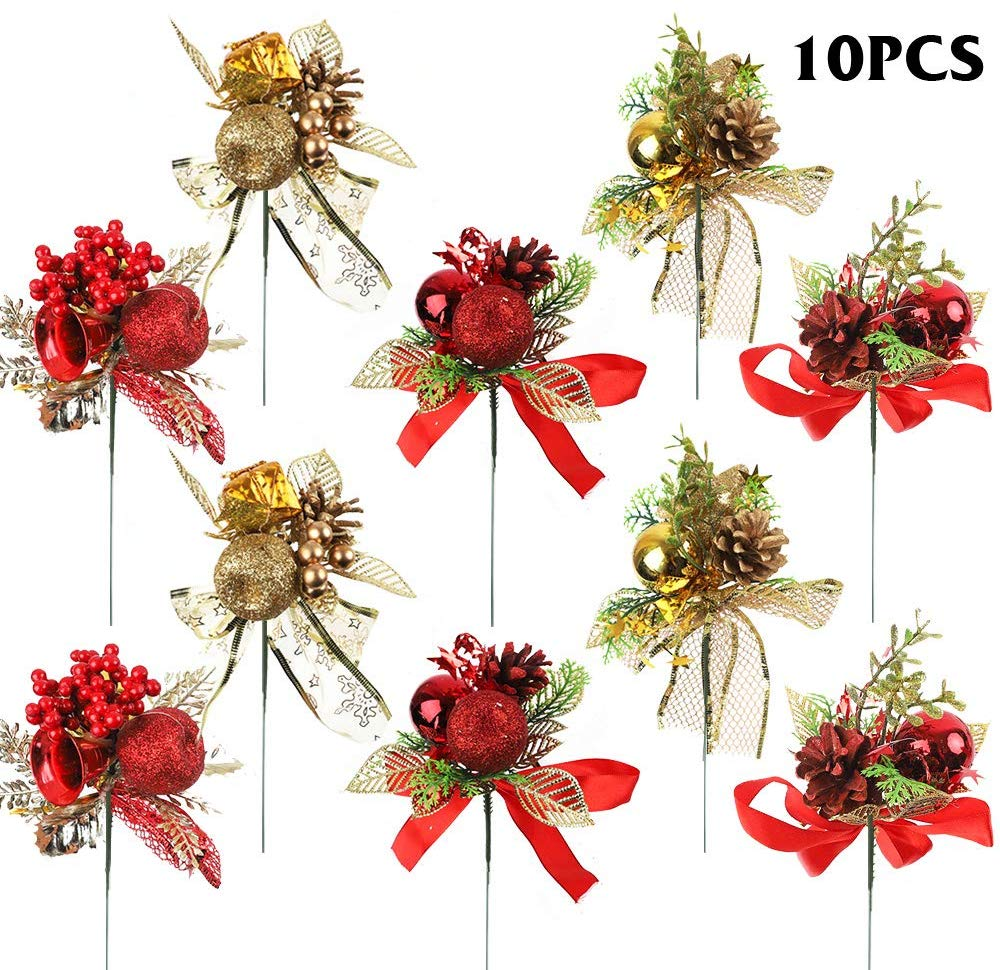 CHRISTMAS PICKS 10PC PACK