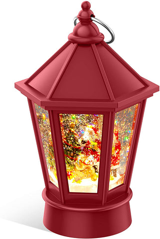 LIGHTED CHRISTMAS SNOW GLOBE LANTERNS