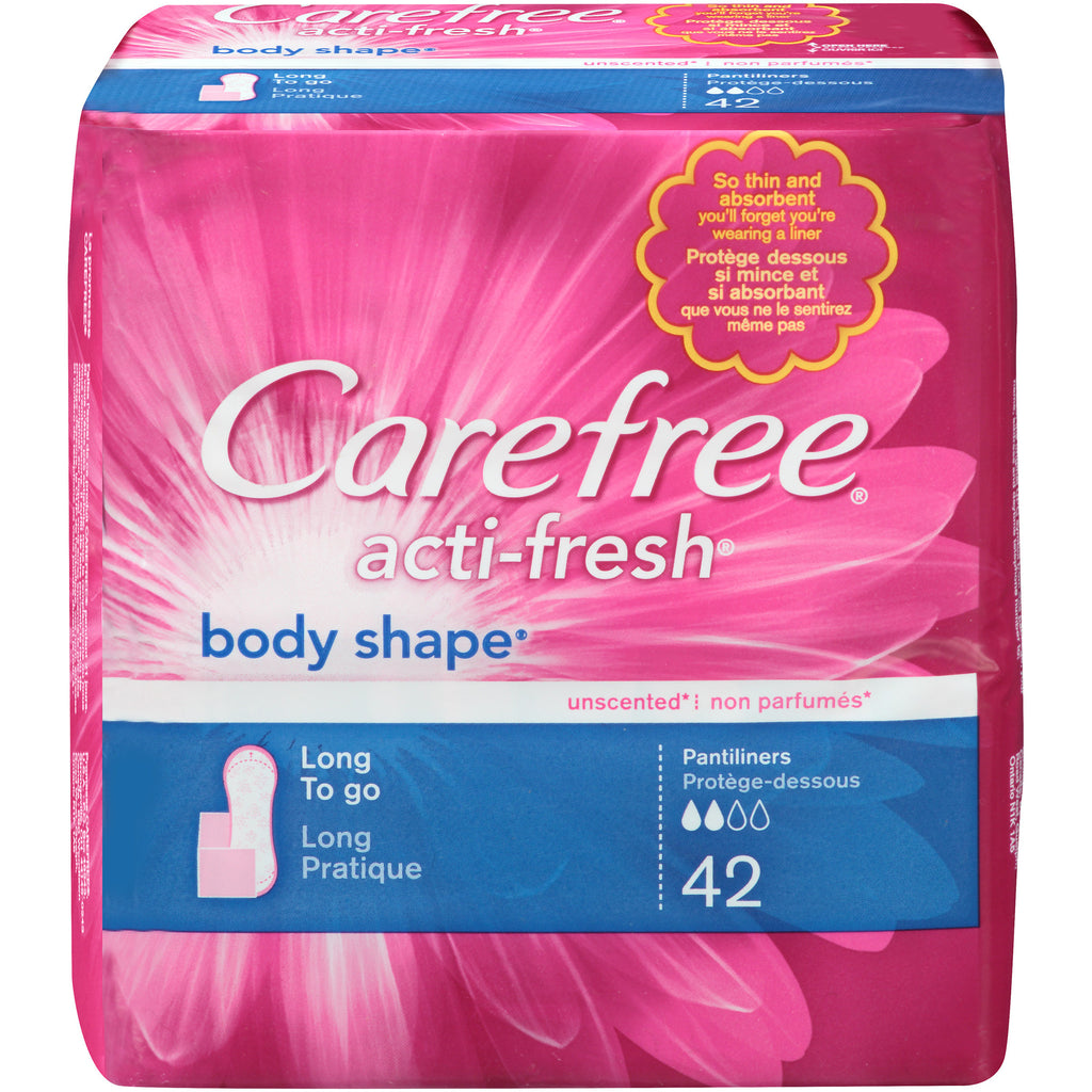 Carefree acti-fresh Body shape Long to go 42 Pantiliners