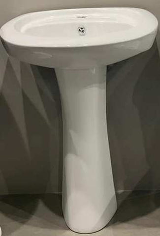 ANCHOR VITREOUS HYGINE WHITE SINK & PEDESTAL
