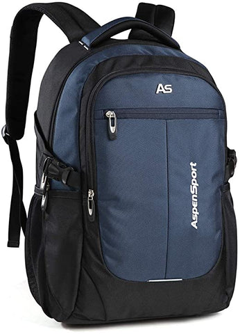 "ASPENSPORT Laptop Backpack for Men School Bookbag Fit 15.6""-17""Water Repellent"