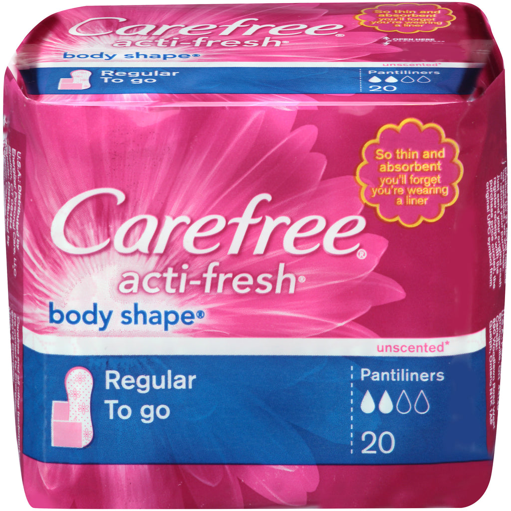 Carefree Acti Fresh Body Shape 20 Regular Pantiliners