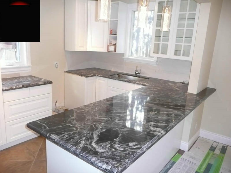 Black Forest Prefab Granite Countertop