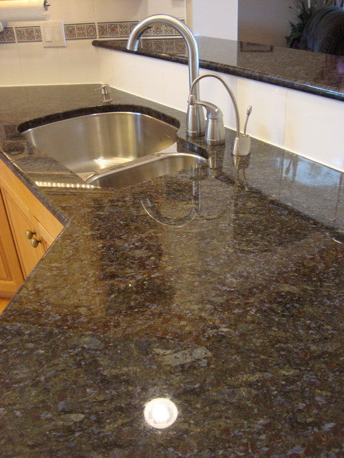Butterfly Blue Prefab Granite Countertop