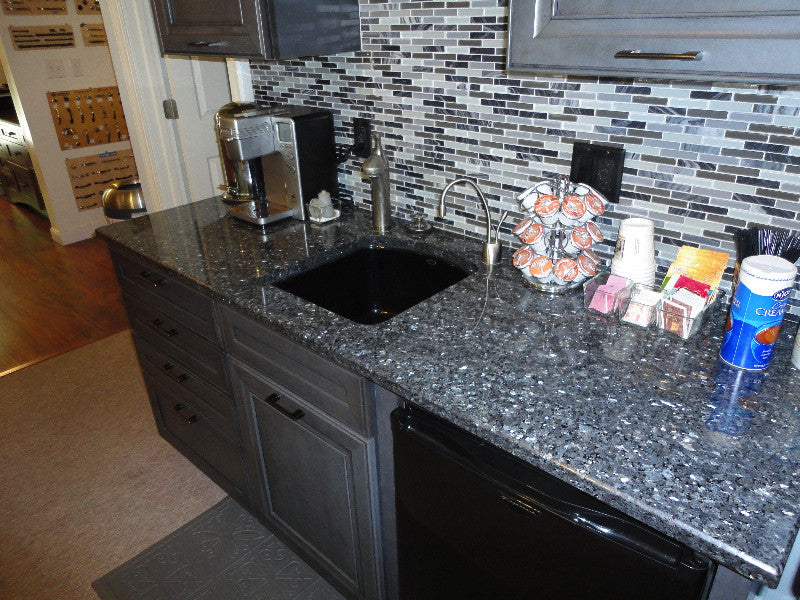 ovens kitchen granite double countertops flooring for with wood blue pearl traditional