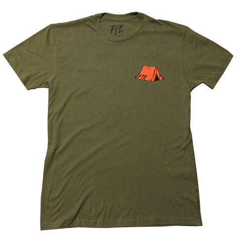 The Orange Tent Tee (Army Green)