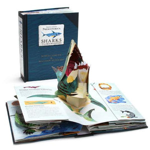 Encyclopedia Prehistorica: Sharks Pop-Up Book cover and open mouth shark