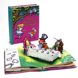 Alice's Adventures in Wonderland Pop-Up Book - cover and tea party
