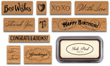 """Greetings!"" Rubber Stamps"