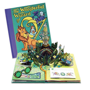The Wonderful Wizard of Oz Pop-Up Book cover and the Emerald City