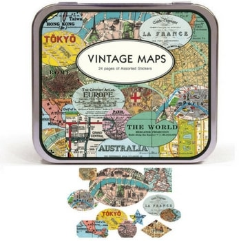Stickers Vintage Maps Cavallini