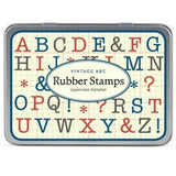 Vintage ABC Rubber Stamp Uppercase