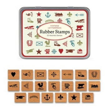 Cavallini & Co. Rubber Stamps Vintage Letter Press
