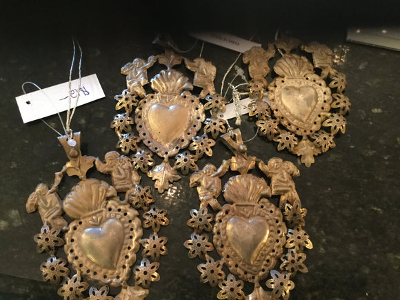 Metal heart ornament 12.00