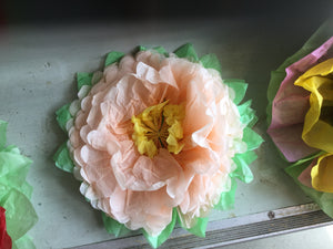 Small paper flower open
